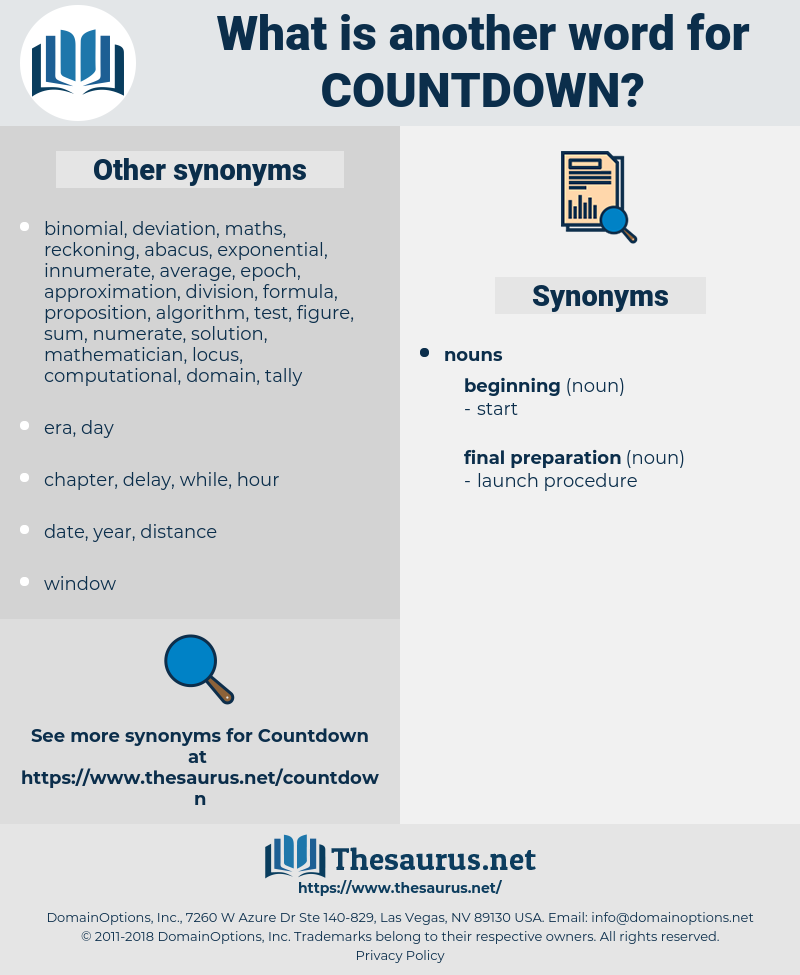 countdown, synonym countdown, another word for countdown, words like countdown, thesaurus countdown