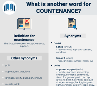 countenance, synonym countenance, another word for countenance, words like countenance, thesaurus countenance