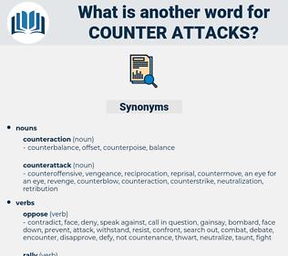 counter attacks, synonym counter attacks, another word for counter attacks, words like counter attacks, thesaurus counter attacks