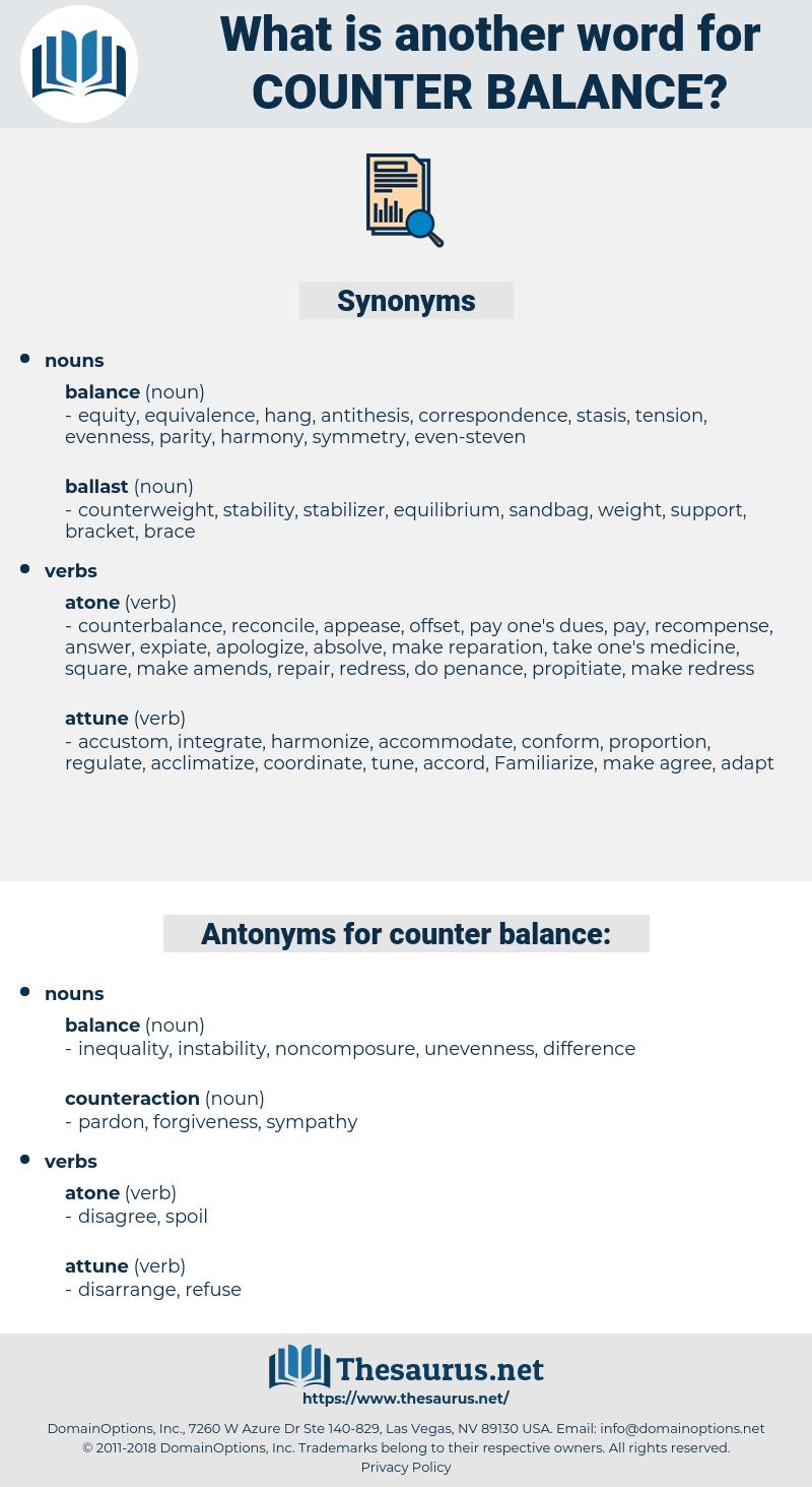 counter balance, synonym counter balance, another word for counter balance, words like counter balance, thesaurus counter balance