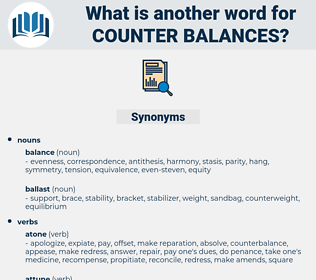 counter-balances, synonym counter-balances, another word for counter-balances, words like counter-balances, thesaurus counter-balances