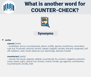 counter check, synonym counter check, another word for counter check, words like counter check, thesaurus counter check