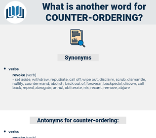 counter ordering, synonym counter ordering, another word for counter ordering, words like counter ordering, thesaurus counter ordering