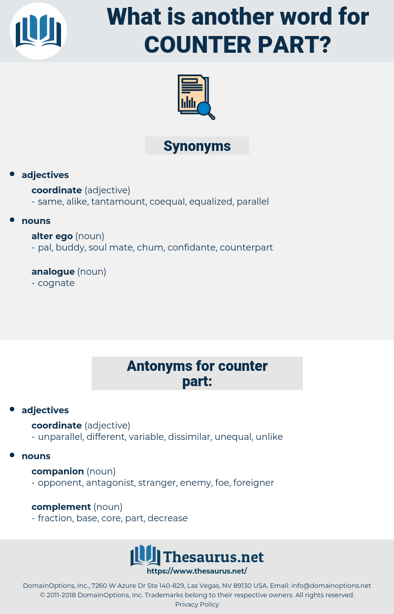 counter part, synonym counter part, another word for counter part, words like counter part, thesaurus counter part