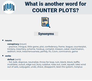 counter plots, synonym counter plots, another word for counter plots, words like counter plots, thesaurus counter plots