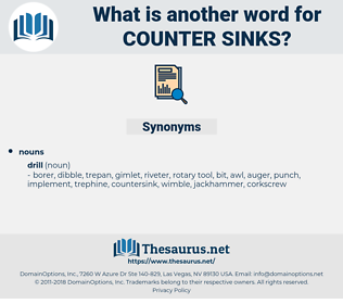 counter-sinks, synonym counter-sinks, another word for counter-sinks, words like counter-sinks, thesaurus counter-sinks