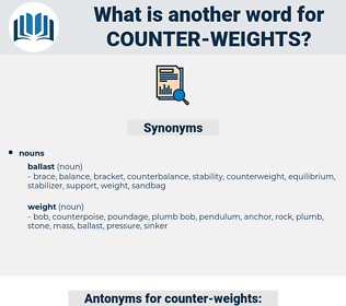 counter weights, synonym counter weights, another word for counter weights, words like counter weights, thesaurus counter weights