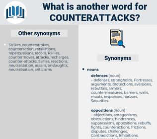counterattacks, synonym counterattacks, another word for counterattacks, words like counterattacks, thesaurus counterattacks