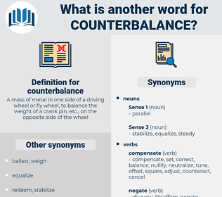 counterbalance, synonym counterbalance, another word for counterbalance, words like counterbalance, thesaurus counterbalance