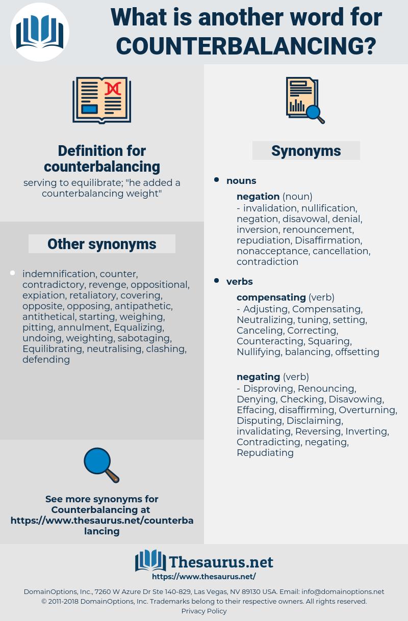 counterbalancing, synonym counterbalancing, another word for counterbalancing, words like counterbalancing, thesaurus counterbalancing