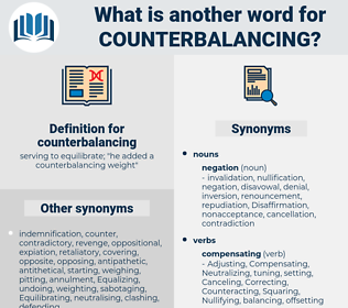 counterbalancing, synonym counterbalancing, another word for counterbalancing, words like counterbalancing, thesaurus counterbalancing