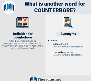 counterbore, synonym counterbore, another word for counterbore, words like counterbore, thesaurus counterbore