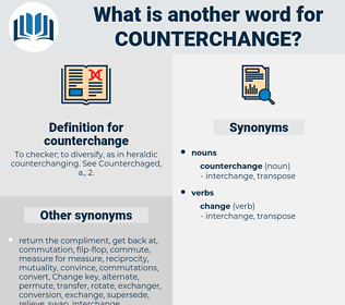 counterchange, synonym counterchange, another word for counterchange, words like counterchange, thesaurus counterchange