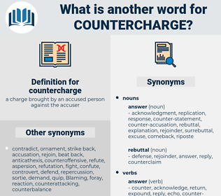 countercharge, synonym countercharge, another word for countercharge, words like countercharge, thesaurus countercharge