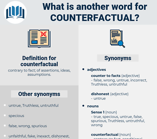 counterfactual, synonym counterfactual, another word for counterfactual, words like counterfactual, thesaurus counterfactual