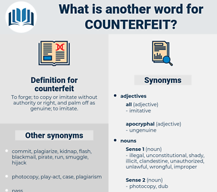 counterfeit, synonym counterfeit, another word for counterfeit, words like counterfeit, thesaurus counterfeit