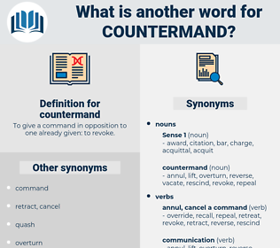 countermand, synonym countermand, another word for countermand, words like countermand, thesaurus countermand