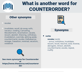 counterorder, synonym counterorder, another word for counterorder, words like counterorder, thesaurus counterorder