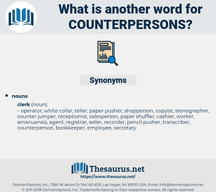 counterpersons, synonym counterpersons, another word for counterpersons, words like counterpersons, thesaurus counterpersons