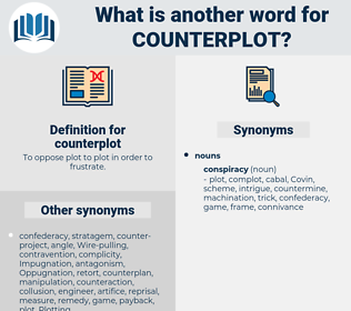 counterplot, synonym counterplot, another word for counterplot, words like counterplot, thesaurus counterplot