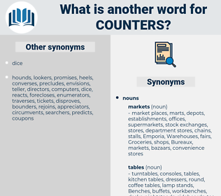 counters, synonym counters, another word for counters, words like counters, thesaurus counters