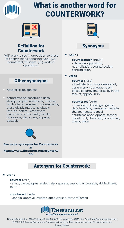 Counterwork, synonym Counterwork, another word for Counterwork, words like Counterwork, thesaurus Counterwork