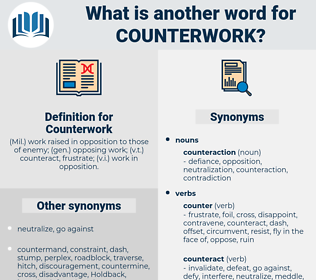 Counterwork, synonym Counterwork, another word for Counterwork, words like Counterwork, thesaurus Counterwork