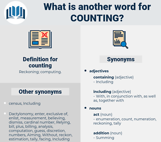 counting, synonym counting, another word for counting, words like counting, thesaurus counting