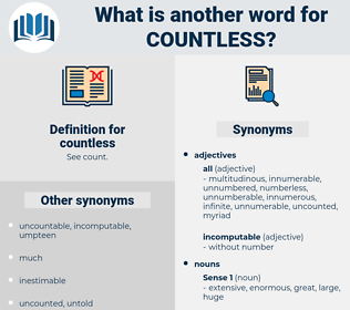 countless, synonym countless, another word for countless, words like countless, thesaurus countless