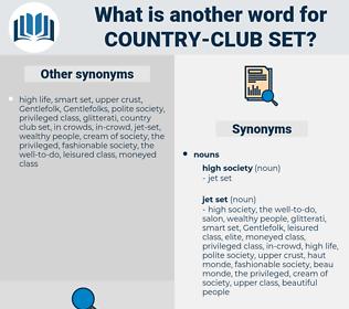 country-club set, synonym country-club set, another word for country-club set, words like country-club set, thesaurus country-club set