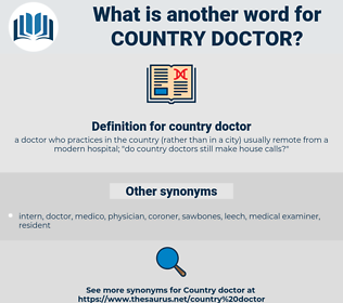 country doctor, synonym country doctor, another word for country doctor, words like country doctor, thesaurus country doctor
