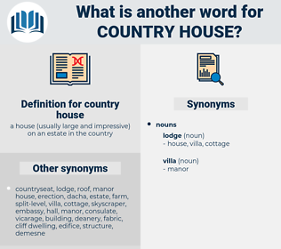 country house, synonym country house, another word for country house, words like country house, thesaurus country house