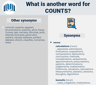 counts, synonym counts, another word for counts, words like counts, thesaurus counts