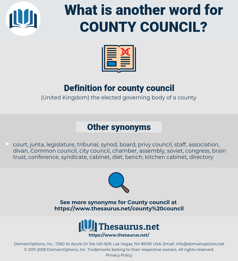 county council, synonym county council, another word for county council, words like county council, thesaurus county council