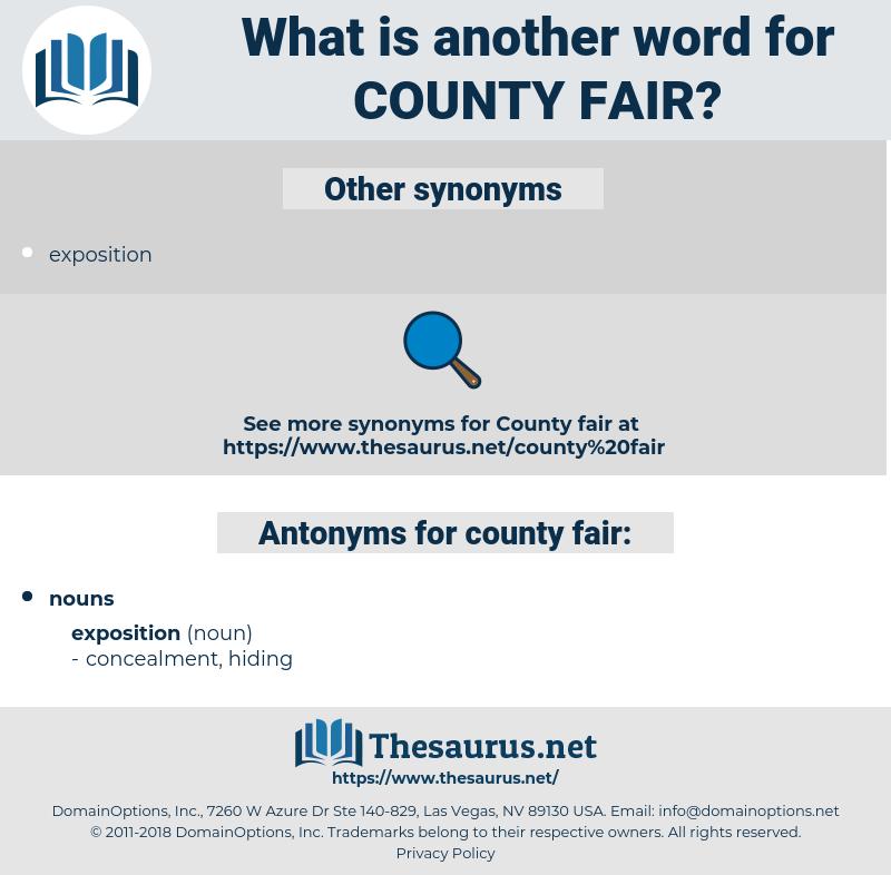 county fair, synonym county fair, another word for county fair, words like county fair, thesaurus county fair