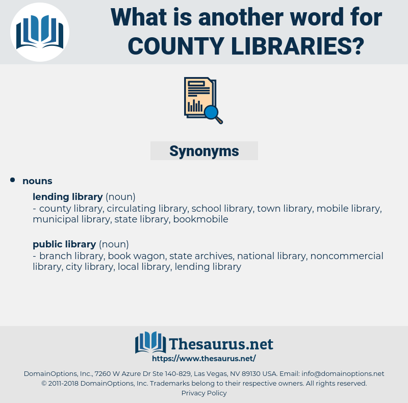 county libraries, synonym county libraries, another word for county libraries, words like county libraries, thesaurus county libraries