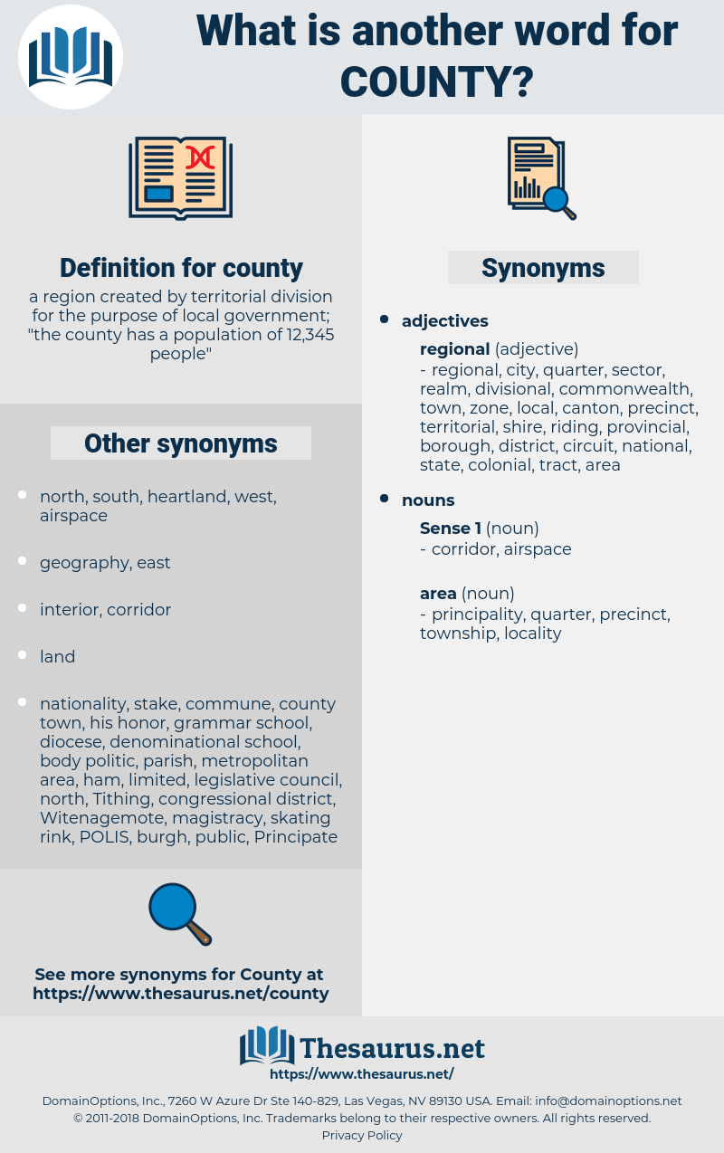 county, synonym county, another word for county, words like county, thesaurus county