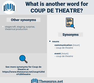 coup de theatre, synonym coup de theatre, another word for coup de theatre, words like coup de theatre, thesaurus coup de theatre