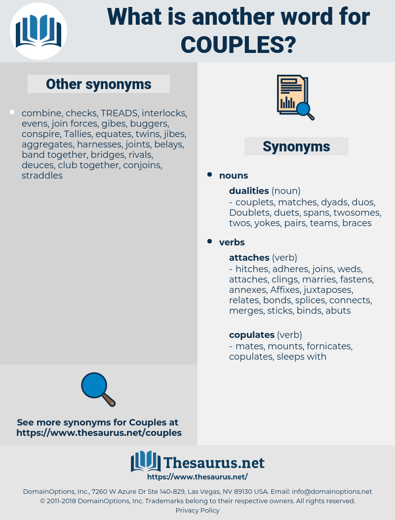 Couples, synonym Couples, another word for Couples, words like Couples, thesaurus Couples