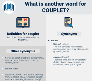 couplet, synonym couplet, another word for couplet, words like couplet, thesaurus couplet