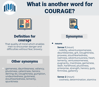 courage, synonym courage, another word for courage, words like courage, thesaurus courage