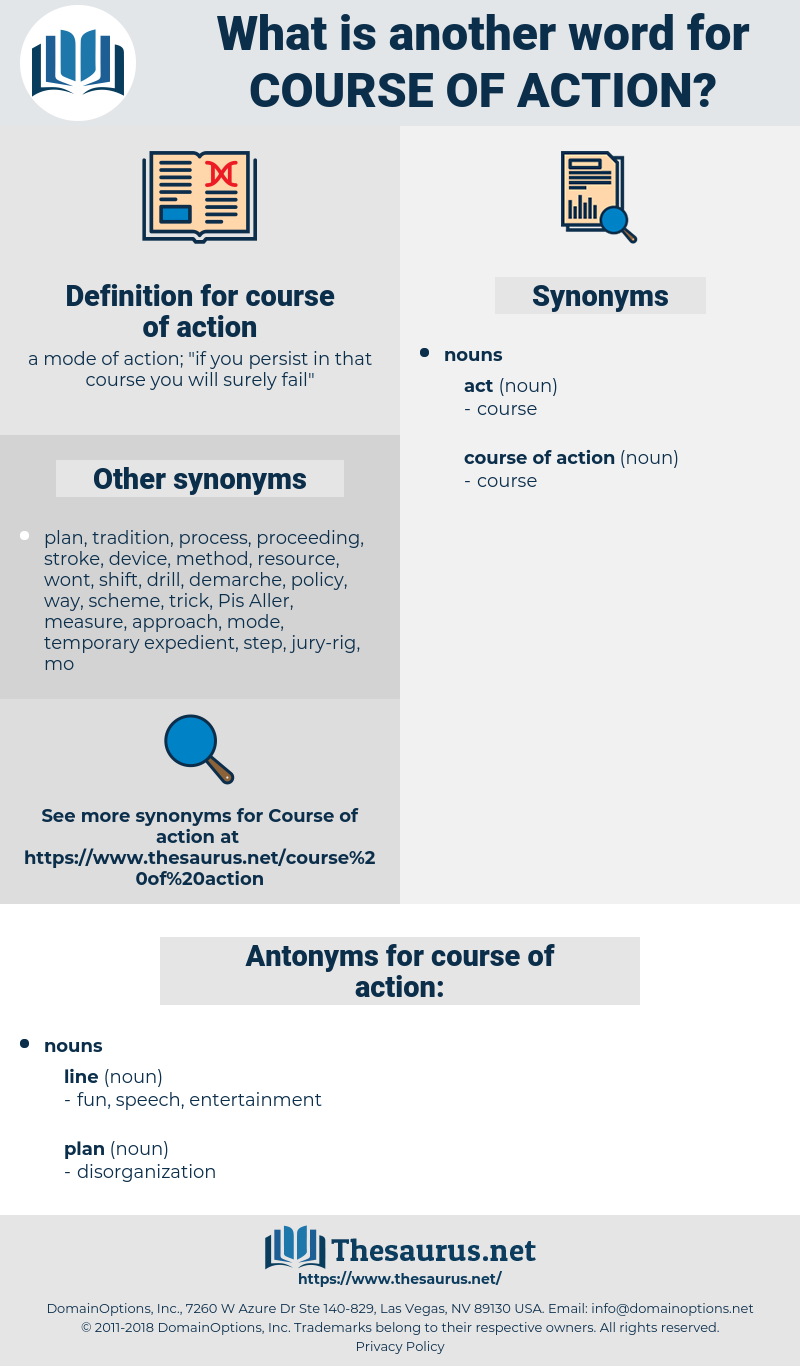 course of action, synonym course of action, another word for course of action, words like course of action, thesaurus course of action