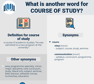 course of study, synonym course of study, another word for course of study, words like course of study, thesaurus course of study