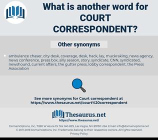 court correspondent, synonym court correspondent, another word for court correspondent, words like court correspondent, thesaurus court correspondent
