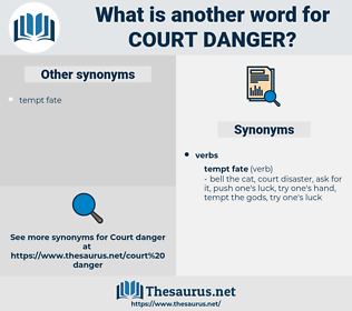 court danger, synonym court danger, another word for court danger, words like court danger, thesaurus court danger