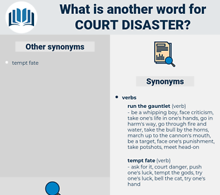 court disaster, synonym court disaster, another word for court disaster, words like court disaster, thesaurus court disaster