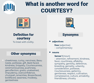 courtesy, synonym courtesy, another word for courtesy, words like courtesy, thesaurus courtesy