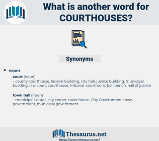 courthouses, synonym courthouses, another word for courthouses, words like courthouses, thesaurus courthouses