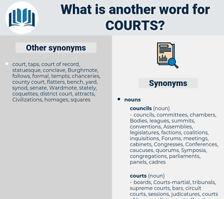 courts, synonym courts, another word for courts, words like courts, thesaurus courts
