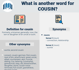 cousin, synonym cousin, another word for cousin, words like cousin, thesaurus cousin